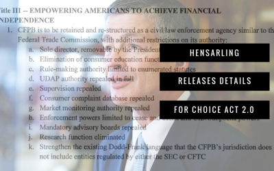Hensarling Releases Details for CHOICE Act 2.0