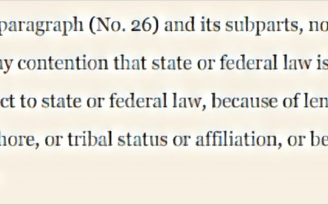Member Alert: CFPB bans consideration of tribal status/sovereignty in Zero Parallel consent order
