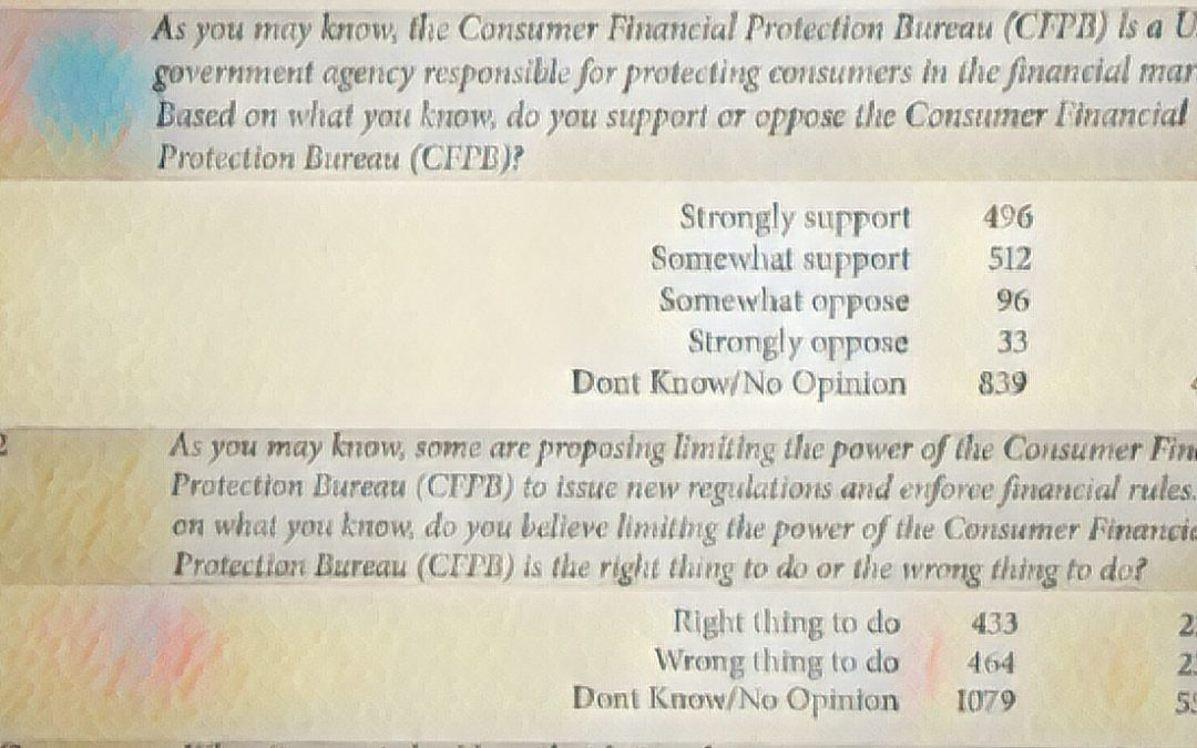 New Poll Shows Voters Split on Limiting CFPB Power